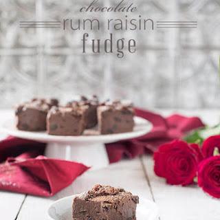 Chocolate Rum Raisin Fudge.