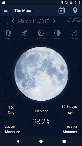 The Moon - Phases Calendar screenshot 1