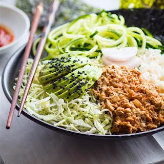 Healthy Avocado Tuna Salad Sushi Bowls {Gluten Free, Low Mercury}.