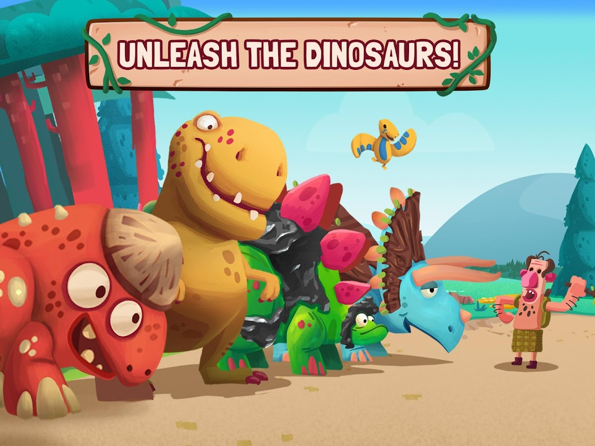 Dino Bash - Dinos v Cavemen- screenshot