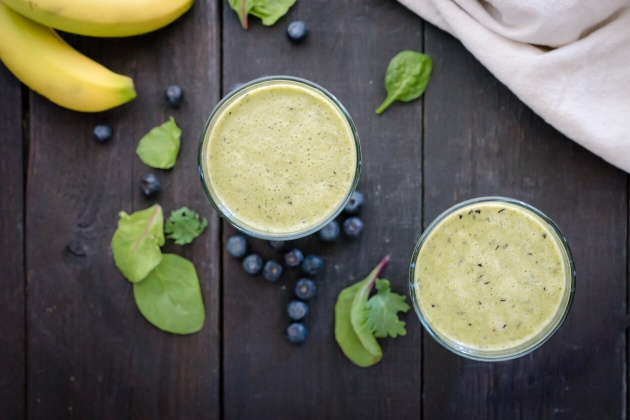 Blueberry-Banana Green Smoothie Recipe
