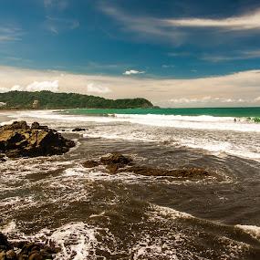 Jaco Beach Morning by James Woodward - Landscapes Beaches ( sky, jaco, coastline, beach, costa rica )