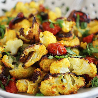 Turmeric Roasted Cauliflower and Tomatoes