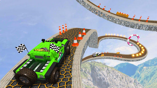 Offroad Jeep Driving Stunt 3D : Real Jeep Games  screenshots 2