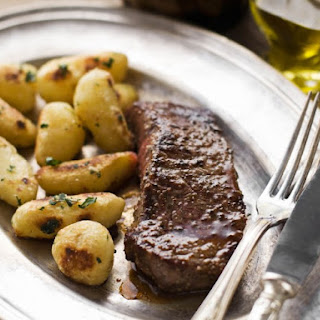 Pan-Seared Steaks With Worcestershire And Butter Sauce