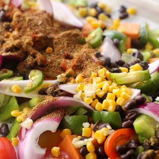 Sheet Pan Mexican Veggie Dinner.