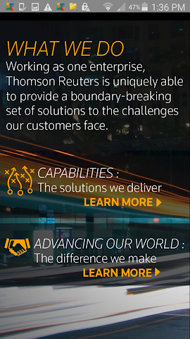 android Thomson Reuters Our Story Screenshot 2