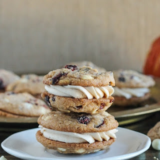 Pumpkin Spice Cookie Sandwiches with Cream Cheese Filling.