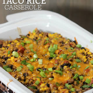 Crock Pot Mexican Taco Casserole.