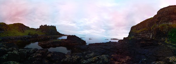 Photo: Dunluce Castle. Taken at 9:10pm with the Raspberry Pi camera board (39 separate photographs). Stitched with Hugin #RPPA