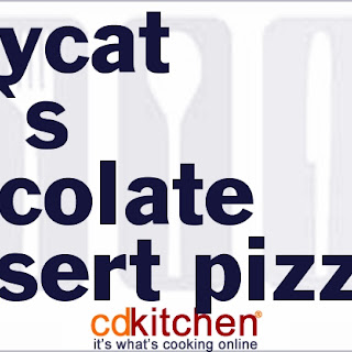 CiCi's Chocolate Dessert Pizza.