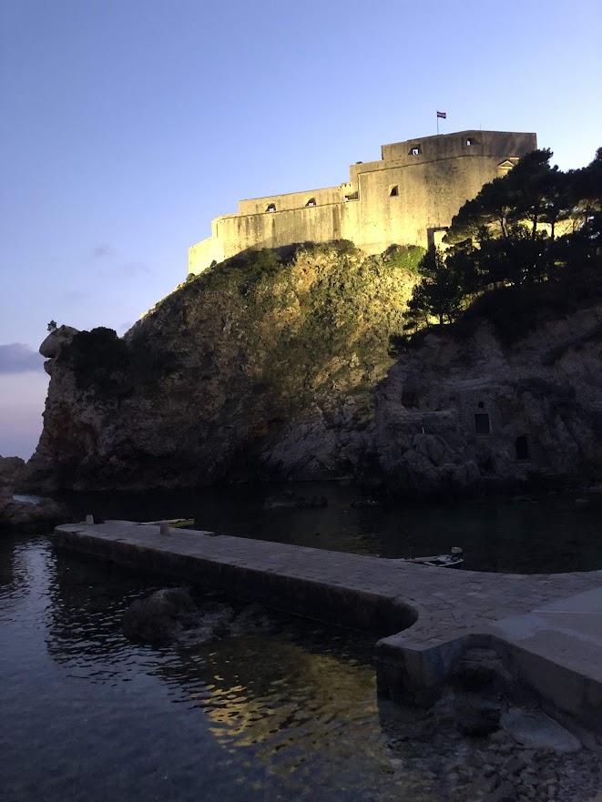 Fort Lovrijenac at Night
