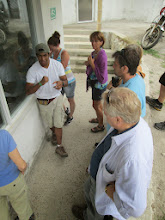 Photo: Chocolate Tour Mindo Ecuador: Explaining the mixing process, precise temperatures, and the addition of the milk and sugar
