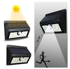 Lampa solara 45 LED cu senzor de miscare si lumina