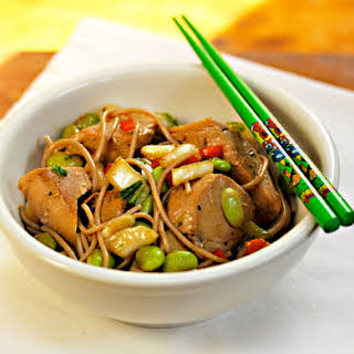 Ginger-lime Tuna With Buckwheat (soba) Noodles.