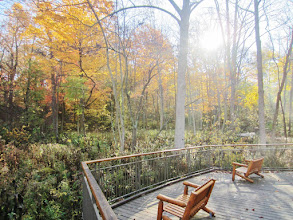 Photo: 2 Benches overlooking a beautiful autumn view at Hills and Dales Metropark in Dayton, Ohio.