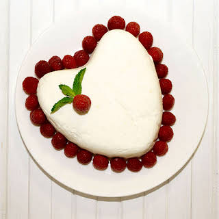 Coeur à la Crème with Grand Marnier Raspberry Sauce.
