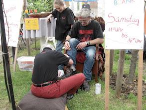 Photo: Rheinland-Pfalz Tag: Schuhe putzen für den LB