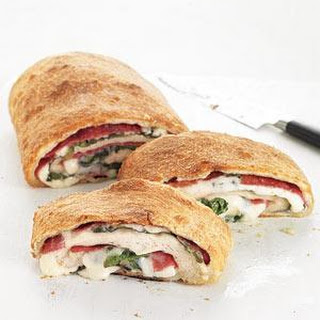 Salami and Spinach Stromboli