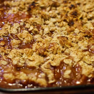 Rhubarb Crisp With Strawberry, Ginger, and Orange