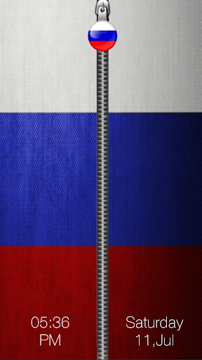 Russia Flag Zipper Lock