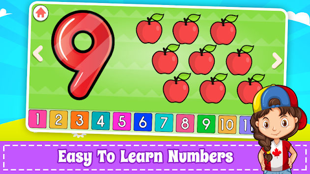 Learn Numbers 123 Kids Free Game - Count & Tracing apk screenshot