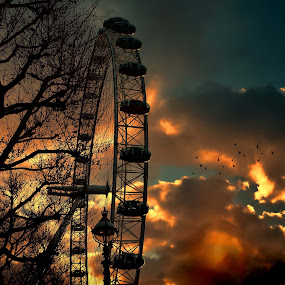 Sunset Eye by Angel Weller - Buildings & Architecture Bridges & Suspended Structures