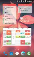 Screenshot of TimeTable++ Schedule
