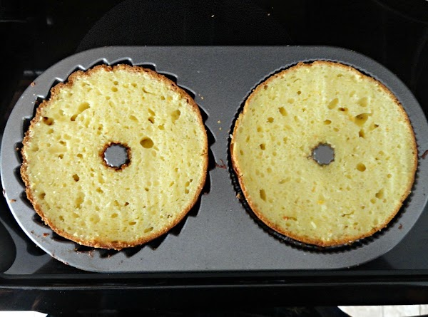 Slice cake/s evenly across the top/s