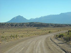 Photo: Heading S out of Hanksville toward the Henrys