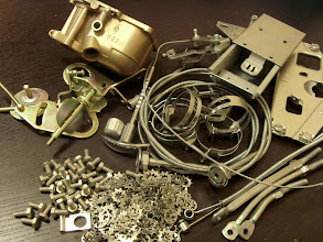 Photo: all the hardware was assembled from 3 donor cars, sorted and zinc-plated