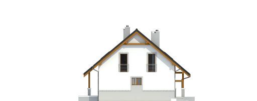 Gajówka bez garażu bliźniak B-BL2 - Elewacja prawa