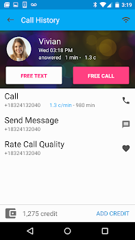 Free Calls and Text Messenger