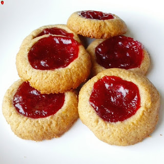 4-Ingredient Jam Thumbprint Cookies.