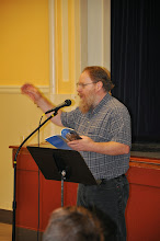 Photo: Kevin Mooneyham drove farther than anyone (from Eugene, Oregon) to read with us tonight.