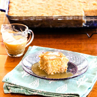 Tropic Bread Pudding with Coconut Rum Sauce.