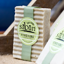 Photo: Sabun Power Bubble Bar Soap- Made with organic spirulina, peppermint essential oil, and rosemary essential oil. Gives an enormous amount of thick lather.