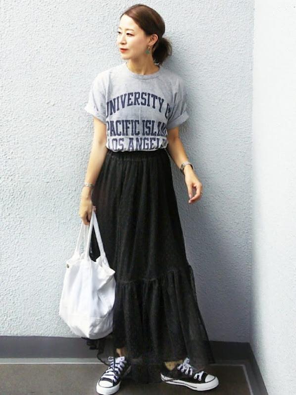 280af7682359d グレーTシャツの大人女子コーデ50選!ラフすぎないきれいめカジュアルな ...