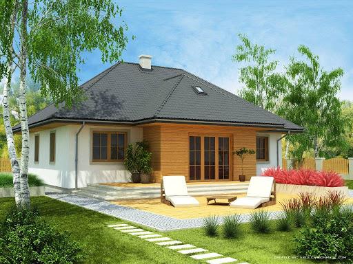 projekt Domek Kaszubski szkielet drewniany 014 SOK