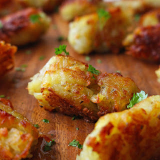 Crunchy Homemade Pan Fried Tater Tots with Irish Rooster Potatoes Recipe