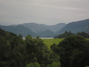 "Photo: The view from our guest house room. The hills are called ""fells."""