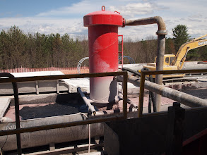 Photo: Fluids coming out of the well to be recycled.