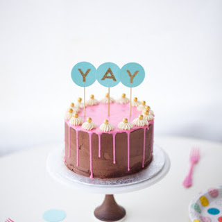 Classic Yellow Cake with Chocolate Fudge Frosting (and Pink Chocolate Ganache Drip!)