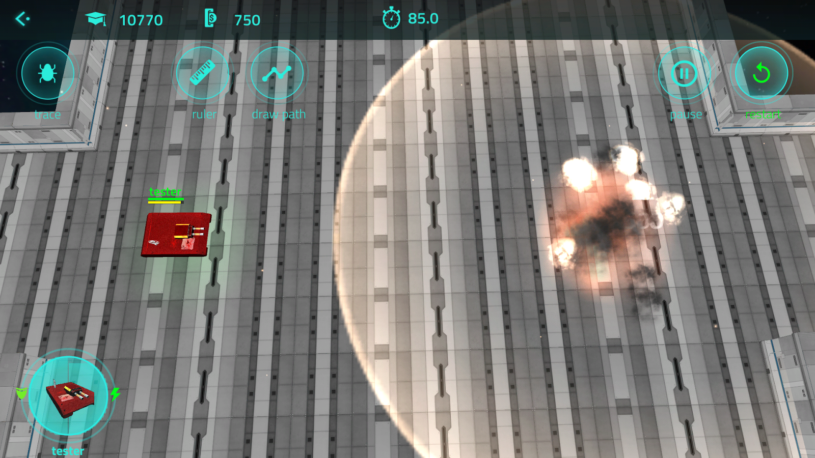 Scriptbots ARENA. Battle bots programming- screenshot