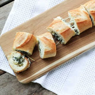 Spinach Artichoke Dip Stuffed Bread.