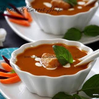 Sweet Potato & Carrot Soup.