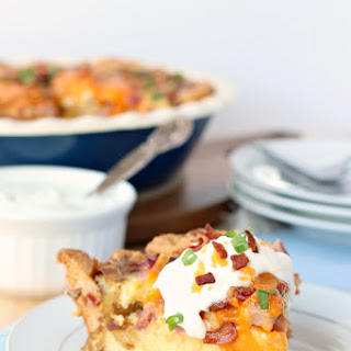 Easy Loaded Baked Potato Quiche.