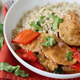 Slow Cooker Chicken with Dates and Golden Raisins.