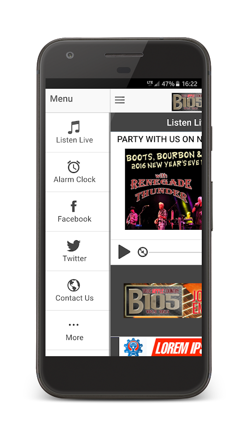 True Apple Country B105 FM- screenshot