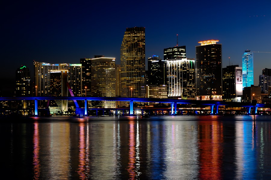 Miami skyline by Joe McBroom - City,  Street & Park  Vistas